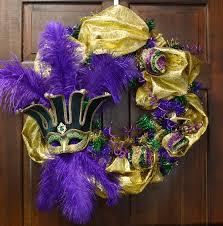 Mardi Gras Wooden Door Decorations by Party Ideas By Mardi Gras Outlet Mardi Gras Wreath Ideas One