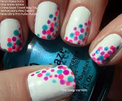 100 Nail Art 2011 Neon Polka Dots The Daily Varnish