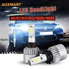 2pcs 9007 cob led car headlight bulb kit 72w 8000lm auto front