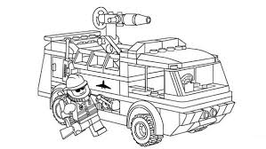 Lego Duplo Fireman And His Equipment Coloring Pages