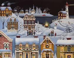 Winterberry Christmas Tree Farm by Catherine Holman Folk Art 12 1 13 1 1 14