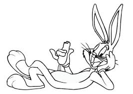 Coloring Pages Relaxing Bugs Bunny Eat Carrot