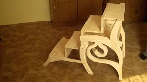 Folding Library Step Stool Wood | Wooden Thing
