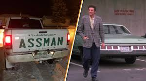 100 Truck License Assman Makes Giant Name Decal For His After Vanity
