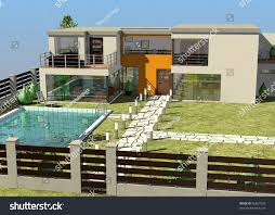 100 Modern Homes Architecture 3 D Render House 96861028