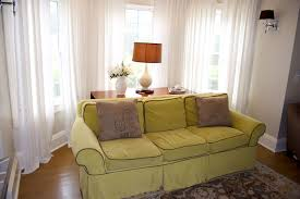 Modern Window Curtains For Living Room by Bow Window Drapery Treatments Bay Window Corner Plug Style Hinges
