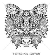 Vector Clip Art Of Fox Coloring Page