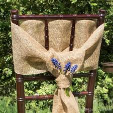 Rustic Wedding Chair Sashes 2017 Elegant Bowknot Burlap Hessian Jute Linen Cover Tie Decoration For Or Diy