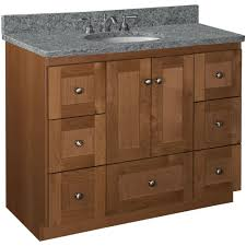 42 Inch Bathroom Vanity Cabinet With Top by Simplicity By Strasser Shaker 42 In W X 21 In D X 34 5 In H