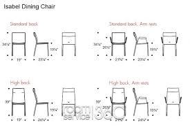 standard dining room chair enchanting standard dining room table