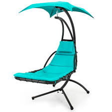 Living Accents Folding Hammock Chair by Best Choice Products Hanging Chaise Lounger Chair Arc Stand Air