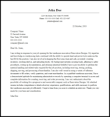 Professional Warehouse Associate Cover Letter Sample & Writing