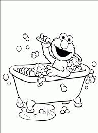 Elmo Coloring Book Pages Bathroom