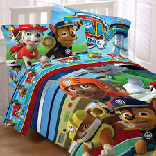 Amazon Paw Patrol 4pc Twin forter and Sheet Set Bedding Collection Home & Kitchen