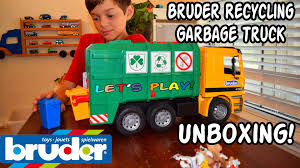 GARBAGE TRUCK Videos For CHILDREN L Bruder RECYCLING TRUCK 4143 ... Kids Garbage Truck Videos Trucks Accsories And City Cleaner Mini Action Series Brands Learn For Children Babies Toddlers Of Toy Air Pump Products Www L Tons Fun Lets Play Garbage Trash Can Toys Green Recycling Dickie Blippi Youtube Video Teaching Colors Learning Unlock Pictures Binkie Tv Numbers Bruder Mack Vs Btat Driven Toddler Toy Lovely For Toys