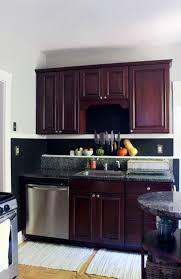 Kitchen Color Ideas With Cherry Cabinets How I Repainted My Rental Kitchen And Made Peace With The