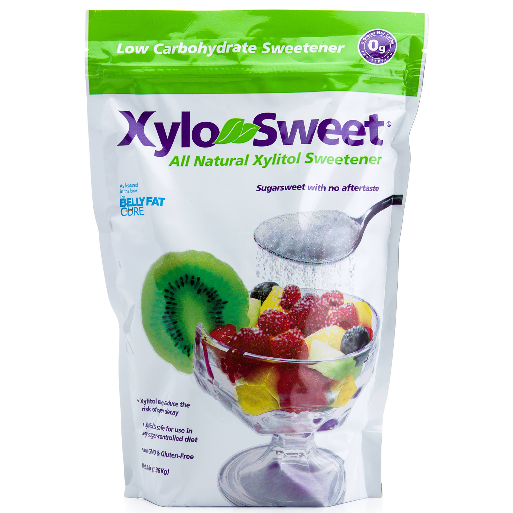 XyloSweet Non-GMO Xylitol Natural Sweetener, Granules, 3lb Reasable