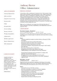 fice administrator resume examples CV samples templates jobs