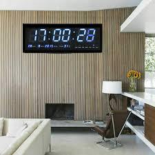 led uhr digitaltuhr wanduhr mit datum temperatur küchenuhr