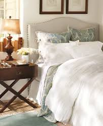 Two It Yourself DIY Drop Cloth Headboard with Front Nail Head