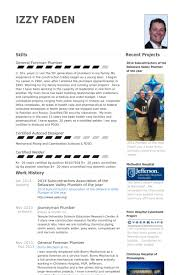 2014 Subcontractors Association Of The Delaware Valley Plumber Year Resume Example