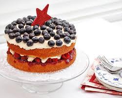 Patriotic Sponge Cake For Independence Day