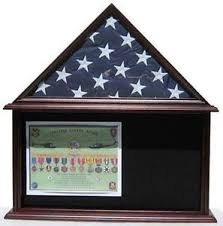Flag Display Case Mahogany