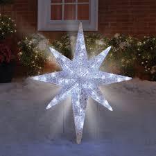 Bethlehem Lights Christmas Trees by The Prismatic Star Of Bethlehem Light Show Hammacher Schlemmer