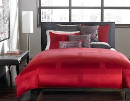 Hotel Collection Bedding In Red Adds Drama To The Gorgeous Bedroom From