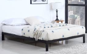 Platform Bed Frames by Ghana Modern Metal Platform Bed Frame Black Sofamania Com