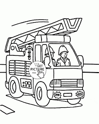 Coloring Book Fire Truck Valid Fire Truck And Fireman Coloring Page ...