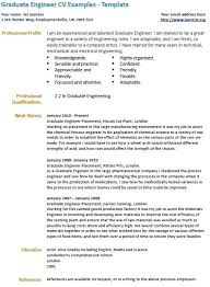 Professional Profile Graduate Resume Example Objective Examples