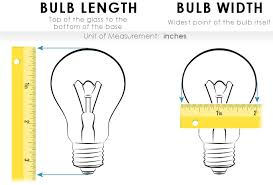 how to measure a light bulb