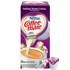 Nestle Coffee Mate Liquid Creamer Singles Italian Sweet Creme 038 Oz Box Of 50 By Office Depot OfficeMax