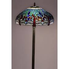Tiffany Style Glass Torchiere Floor Lamp by Tiffany Style Dragonfly Torchiere Lamp Free Shipping Today