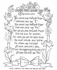 Image Detail For Bible Printables Lord S Prayer Coloring Pages The Lords It
