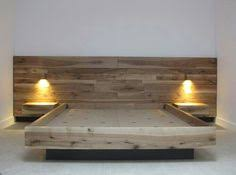 quilmes floating rustic wood platform bedframe by knotsandbiscuits