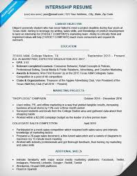 Internship Resume Sample Download This Template