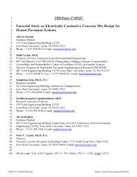 Factorial Study on Electrically Conductive Concrete Mix Design for