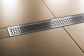 2 Perforated Drain Tile by Tile Edging Kerdi Line Brushed Stainless Steel 36 In Metal