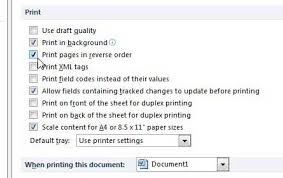 How To Reverse The Print Order In Word 2010