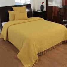 jeté de canapé jaune jeté de lit ou de canapé nirvana 100 coton jaune ocre 255 x 360 cm