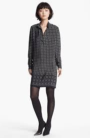 saloni tilda iris print silk shirt dress for women fosoz