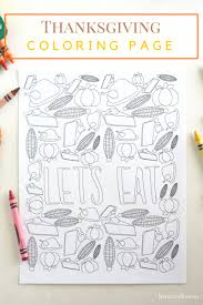 Set The Kids Table This Thanksgiving With Free Printable Coloring Page Get Them