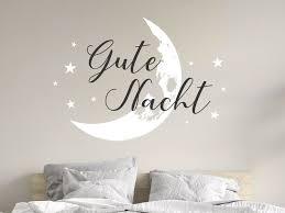 wandtattoo gute nacht mit mond und sternen wandtattoos de