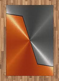 abakuhaus orange und grau teppich maschinen moderne 3d flachgewebe deko teppiche fürs wohnzimmer schlafzimmer und essenszimmer 120 x 180 cm orange