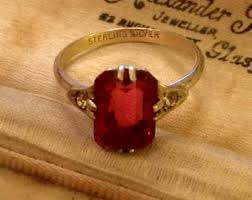 deco ruby and ring deco ruby ring etsy