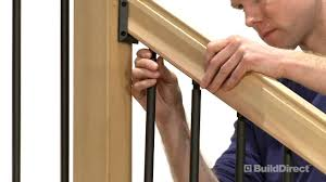 How To Install Traditional Outdoor Stair Railing | BuildDirect ... Wood Stair Railing Kits Outdoor Ideas Modern Stairs And Kitchen Design Karina Modular Staircase Kit Metal Steel Spiral Interior John Robinson House Decor Shop At Lowescom Indoor Railings Wooden Designs Contempo Images Of Lowes For Your Arke Parts The Home Depot Fresh 19282 Bearing Net Grill 20 Best Oak Handrails Caps Posts Spindles Stair Railings Interior Interior Rail Ideas Pinterest
