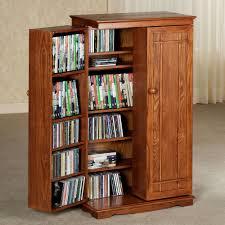 Leslie Dame Sliding Door Media Cabinet by Brown Varnished Maple Wood Bookcase Storage Cabinet With Over The