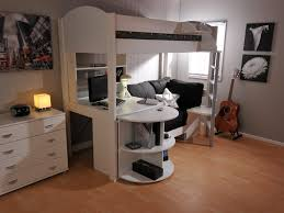 Loft Bed With Desk And Storage Bunk Bed Twin Over Full White Study